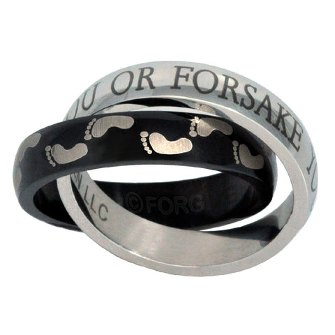 I will Never Leave You or Forsake You Christian Ring