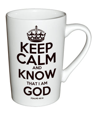 Keep Calm and Know God Ceramic Cup