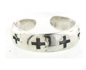 Swiss Crosses Toe Ring