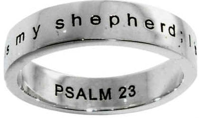 Psalm 23:1 Christian Ring
