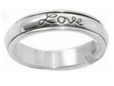 Faith Hope Love Stainless Steel Spinner  Ring