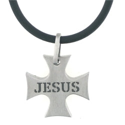 IRON Cross/Jesus Necklace