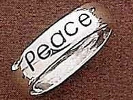 Peace Sterling Silver Christian Ring