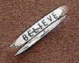 Believe Sterling Silver Christian Ring