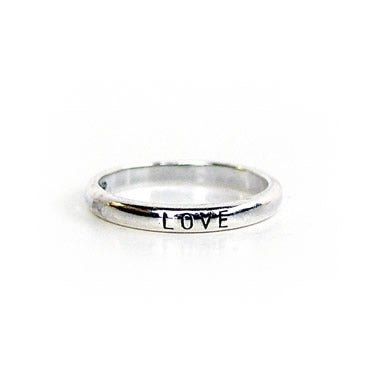 Rounded Love Sterling Ring