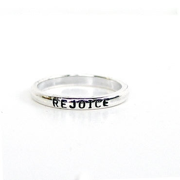 Rejoice Sterling Christian Ring