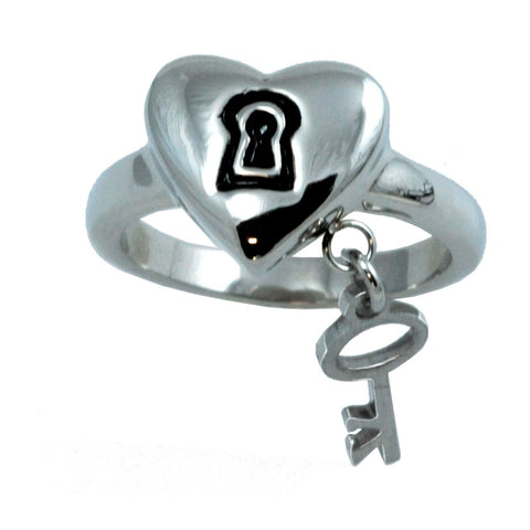 Purity Lock & Key HEART Ring