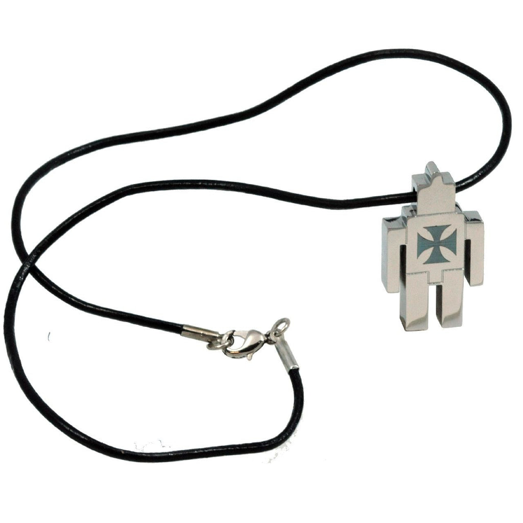 Robot Cross Necklace
