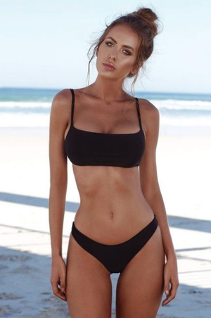 Solid Two Piece Bikini