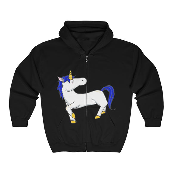 Fletcher the Unicorn Full Zip Hooded Sweatshirt