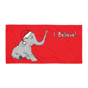 "Swithins ""I Believe"" Large Towel"