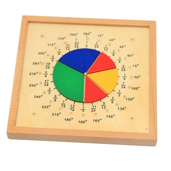 Wooden Fractions/Angles Educational Toy