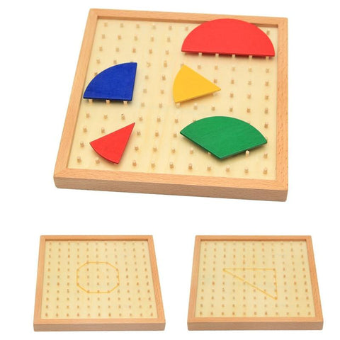 Montessori Wooden Fractions/Angles Educational Toy