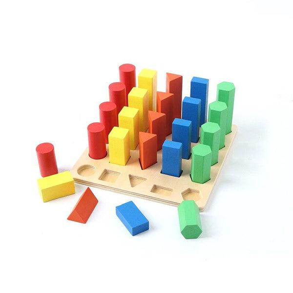 Geometric Wooden Assembly Blocks