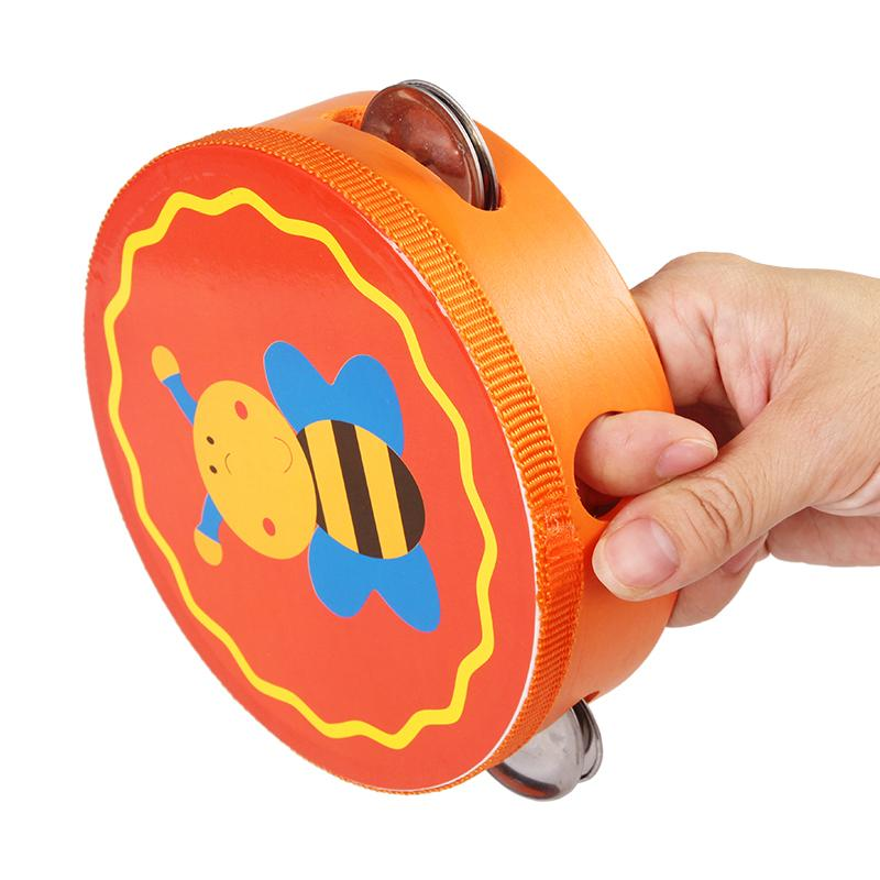Wooden Tambourine Musical Toy