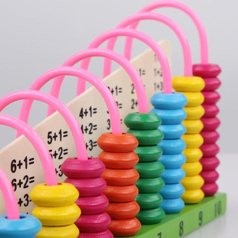 Wooden Multi-colour Abacus Maths Learning Toy