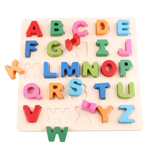 Wooden Alphabet Puzzle Board