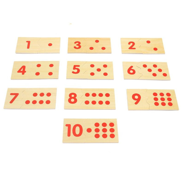 Number and Counter Match-up Puzzle