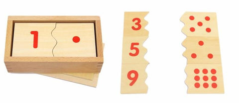 Montessori Number and Counter Match-up Puzzle