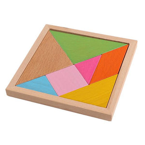 Wooden Jigsaw Shapes Geometry Puzzle