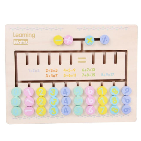 Montessori Wooden Arithmetic Puzzle Learning Board