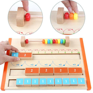 Montessori Children's 1-10 Wooden Arithmetic Board