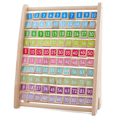 Montessori Standing 1-100 Numerical Wooden Learning Board