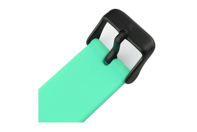 Mint green silicone watch with matte black watch buckle. Colourful, neon watch strap in mint green.