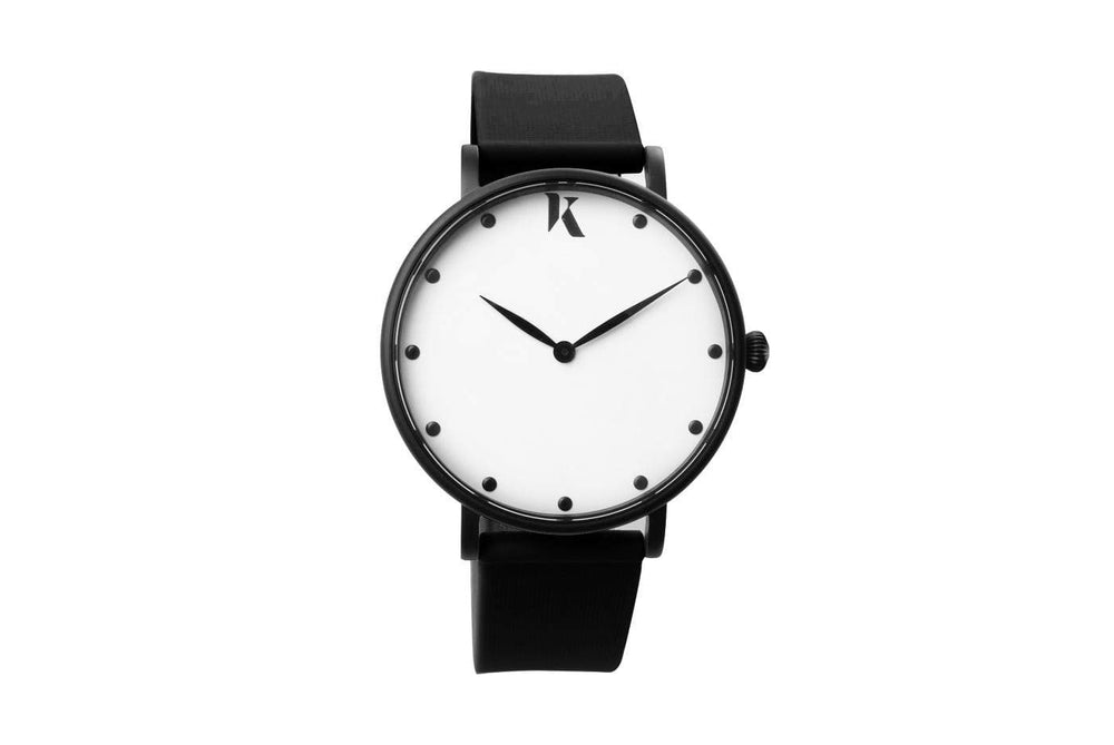 matte black silicone watch with matte black watch case.