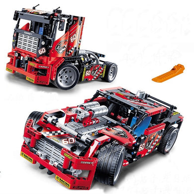 Race Truck Car 2 In 1 Transformable 608 Pieces
