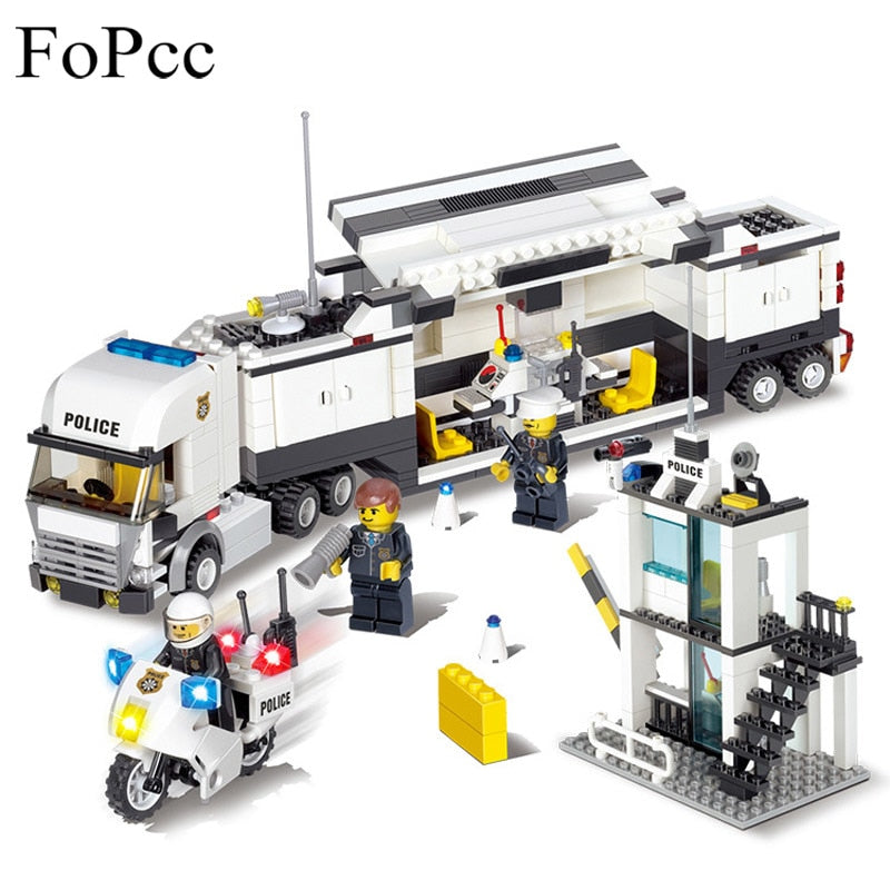 Police Station Car Truck Building Blocks Bricks 511 Pieces