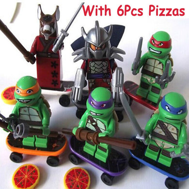 Teenage Mutant Ninja Turtles Leonardo Raphael Michelangelo Donatello 6 Figure Set