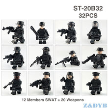 Load image into Gallery viewer, SWAT Team City Police Set