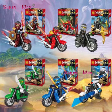 Ninja Kai Jay Zane Motorcycle Collection 6 Figures