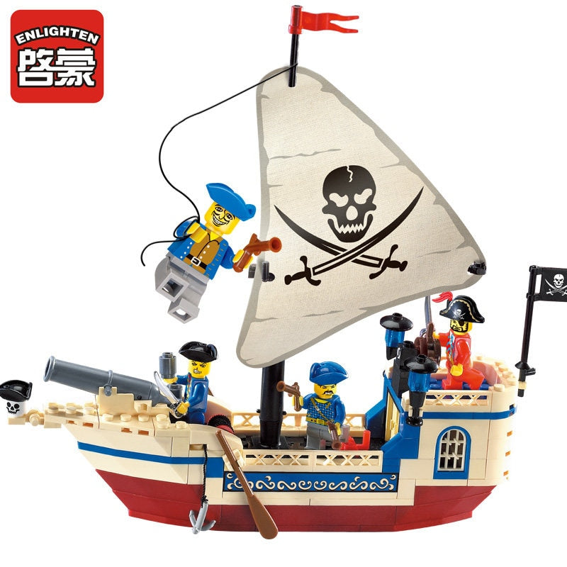 Pirates Of The Caribbean Bounty Pirate Ship Set 188 Pieces