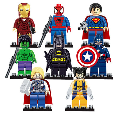 Superhero 8 Figure Set