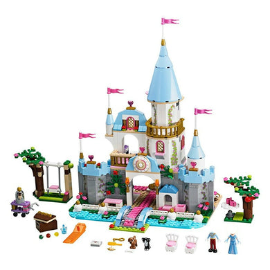 Princess Cinderella Elsa Anna Mermaid Ariel Castle Set