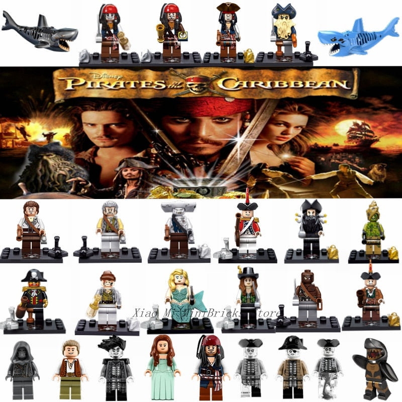 Pirates Of The Caribbean Figure Jack Sparrow Elizabeth Mermaid Barbosa