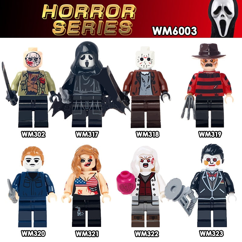 The Horror Theme Movie Black Friday Jason Scream Killer Freddy Krueger 8 Figure Set