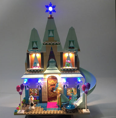 Led Light Elsa Anna Castle Celebration Model