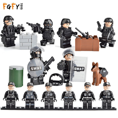 Military Figure SWAT City Police Soldiers Commando Special Forces Weapons