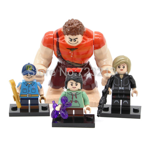 Wreck-It Ralph Vanellope Schweetz Fix-It Felix Tamora Jean Calhoun 4 Figure Set