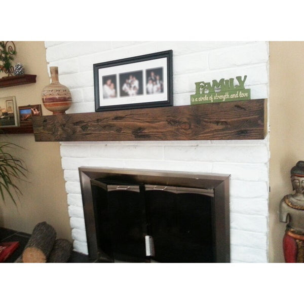 Fireplace Mantel wood Beam surround floating faux beam Faux Beam - Online Wood Worker