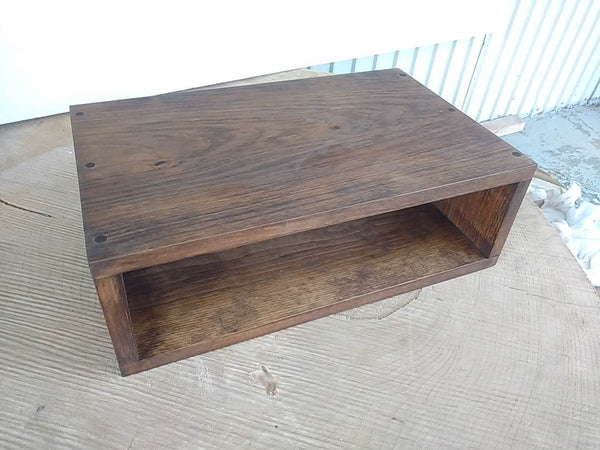 Floating nightstand bedside table  Stained Provincial - Online Wood Worker