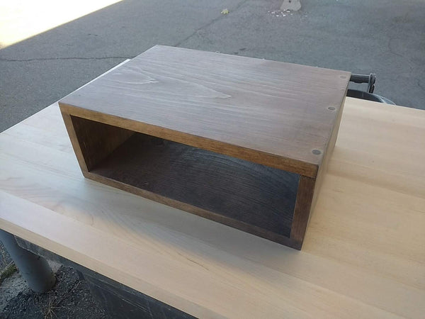 Floating nightstand bedside table  Stained Special Walnut - Online Wood Worker