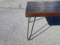 coffee table 24x18 Espresso hairpin legs FREE Shipping - Online Wood Worker