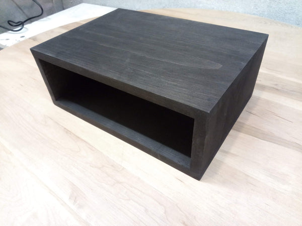 Floating nightstand bedside table  Stained Ebony (black) - Online Wood Worker