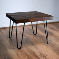 Coffee Table Rustic square Farmhouse Coffee Table coffee Tables with Hairpin Legs Offered in several colors - Online Wood Worker