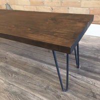 Mid Century Modern Bench Hairpin Legs Bench for Entry Way and Porch - Offered in Several Colors - Online Wood Worker