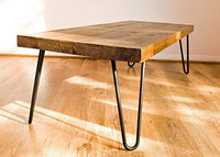 Coffee Table Rustic Farmhouse Coffee Table coffee Tables with Hairpin Legs Offered in several colors - Online Wood Worker